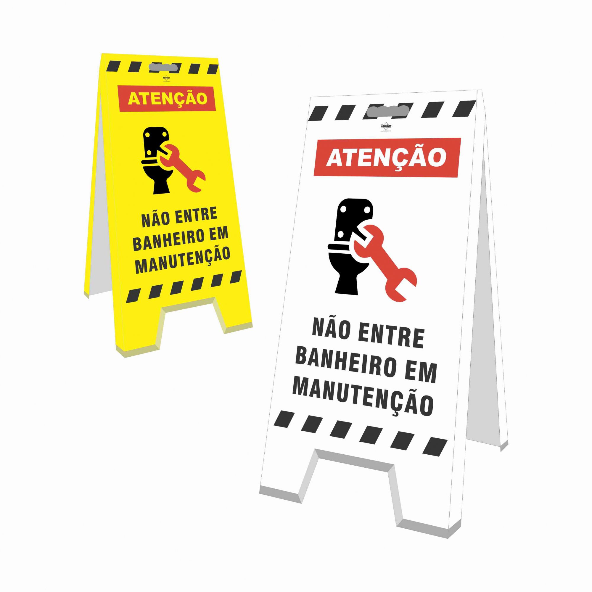 Cavalete - Banheiro Em Manutenção  - Towbar Sinalização de Segurança