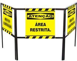 Cavalete biombo - Área restrita  - Towbar Sinalização de Segurança