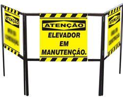 Cavalete biombo - Elevador em manutenção  - Towbar Sinalização de Segurança