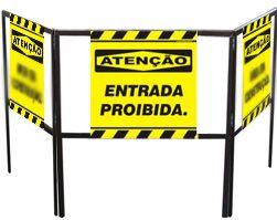 Cavalete biombo - Entrada proibida  - Towbar Sinalização de Segurança