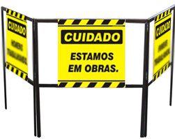 Cavalete biombo - Estamos em obra  - Towbar Sinalização de Segurança