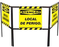 Cavalete biombo - Local de perigo  - Towbar Sinalização de Segurança