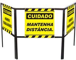 Cavalete biombo - Mantenha distância  - Towbar Sinalização de Segurança