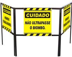 Cavalete biombo - Não ultrapasse o biombo  - Towbar Sinalização de Segurança