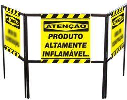 Cavalete biombo - Produto altamente inflamável  - Towbar Sinalização de Segurança