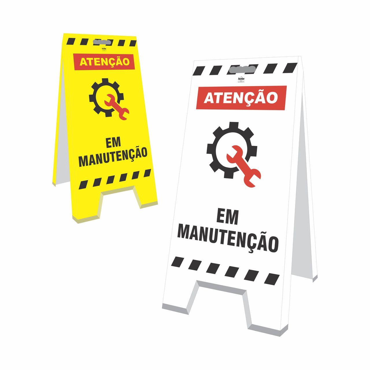 Cavalete - Em manutenção  - Towbar Sinalização de Segurança