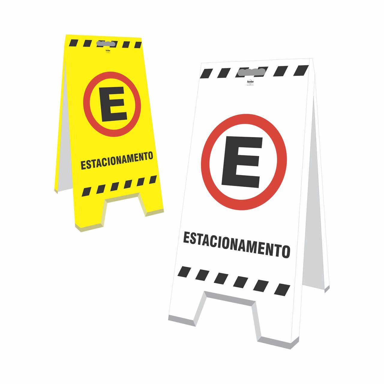 Cavalete - Estacionamento  - Towbar Sinalização de Segurança