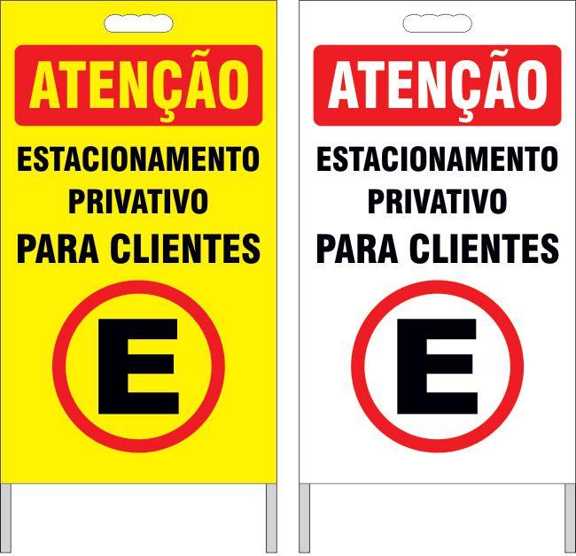 Cavalete - estacionamento privativo para clientes  - Towbar Sinalização de Segurança
