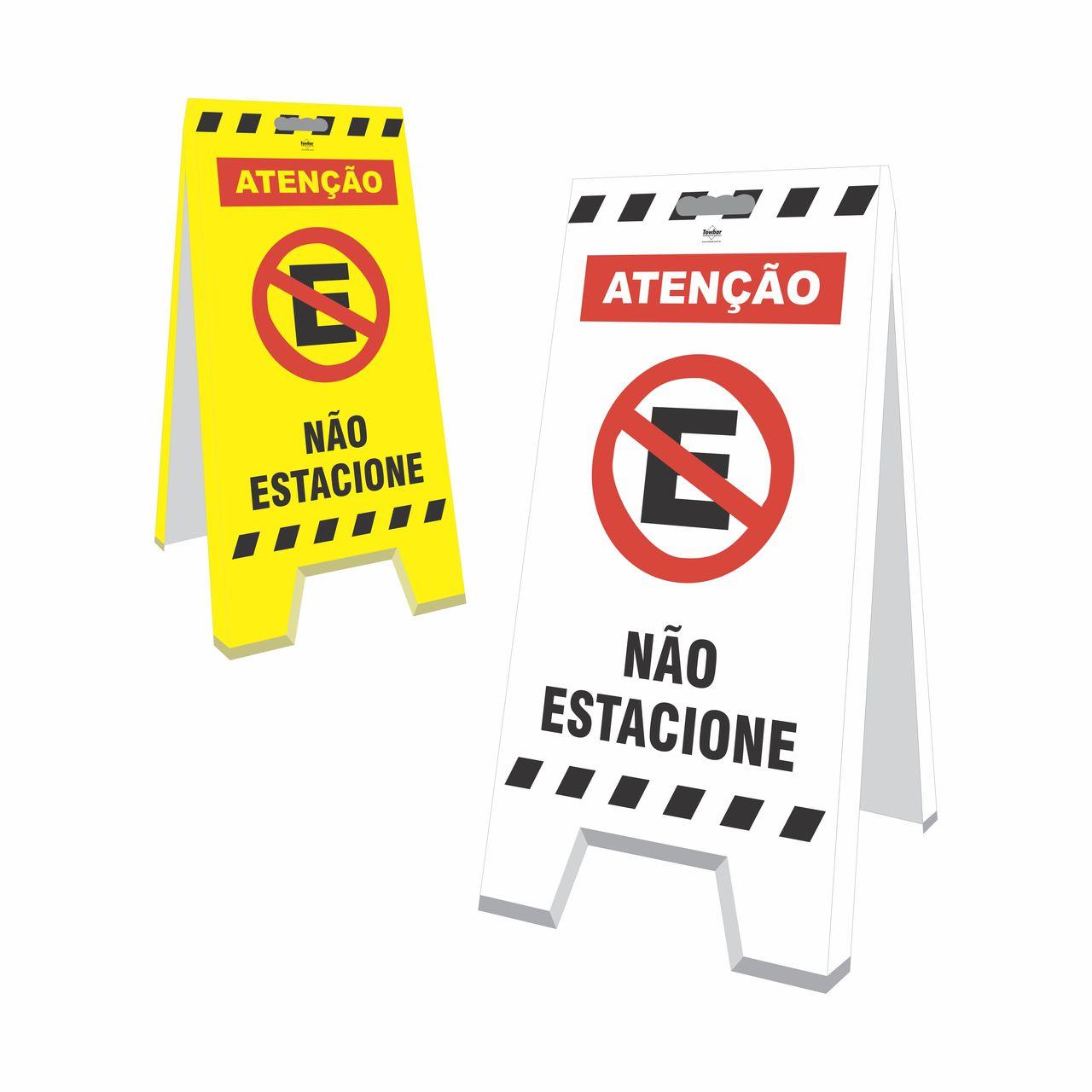 Cavalete - Não estacione  - Towbar Sinalização de Segurança