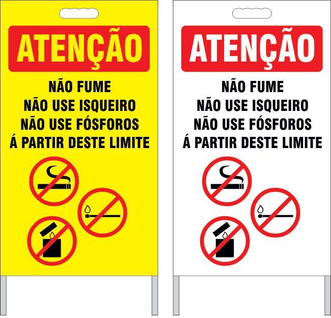Cavalete - não fume, não use isqueiros, não use fósforos  - Towbar Sinalização de Segurança