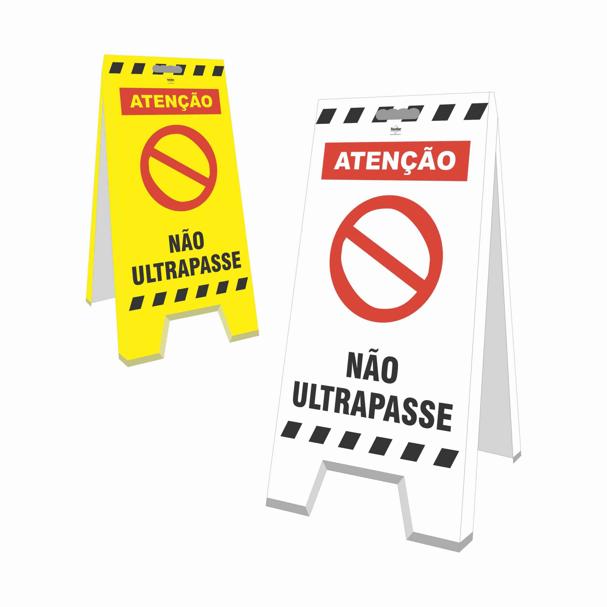 Cavalete - Não ultrapasse  - Towbar Sinalização de Segurança
