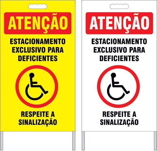 Cavalete - estacionamento exclusivo para deficientes  - Towbar Sinalização de Segurança