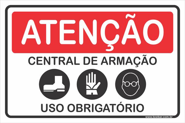 Central de Armação Uso Obrigatório  - Towbar Sinalização de Segurança