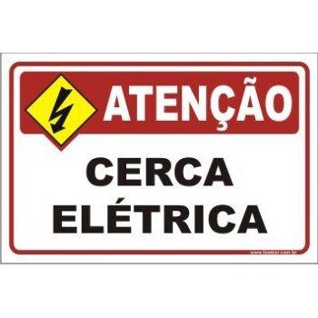 Cerca elétrica  - Towbar Sinalização de Segurança