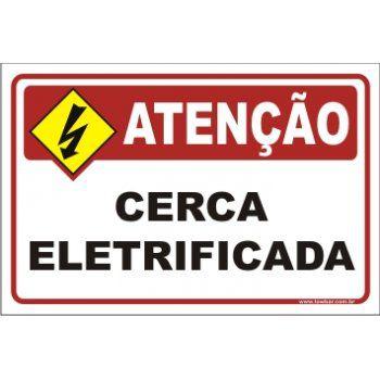 Cerca eletrificada  - Towbar Sinalização de Segurança