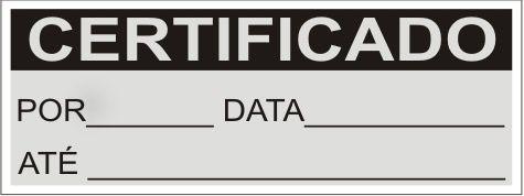 Certificado  - Towbar Sinalização de Segurança