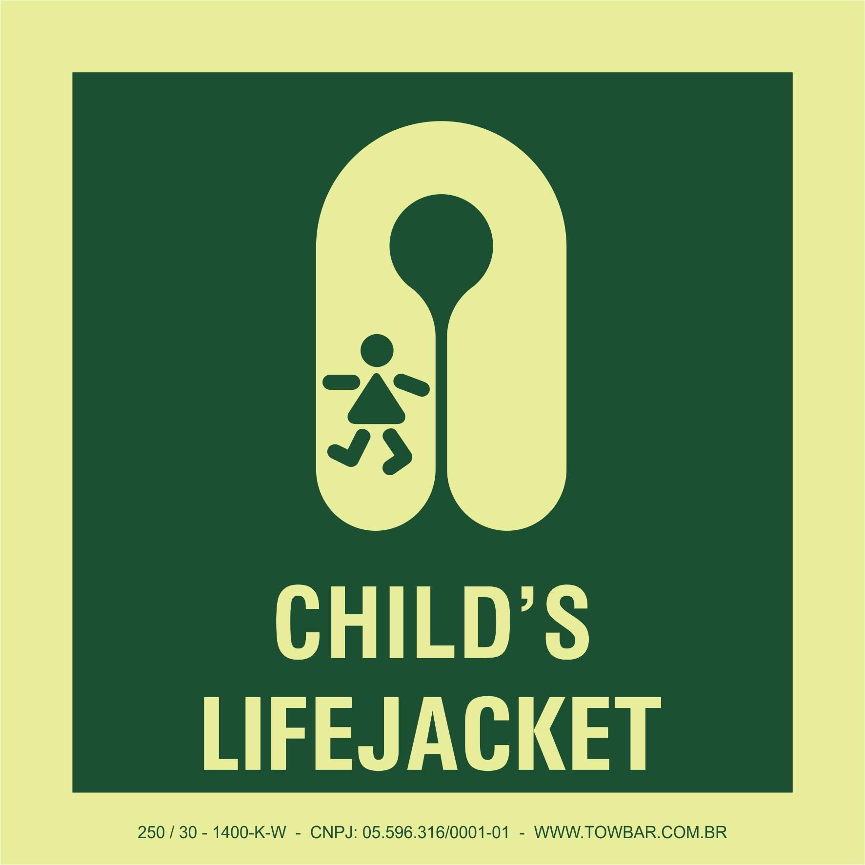 Colete salva-vidas para crianças (Child
