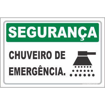 Chuveiro de Emergência  - Towbar Sinalização de Segurança