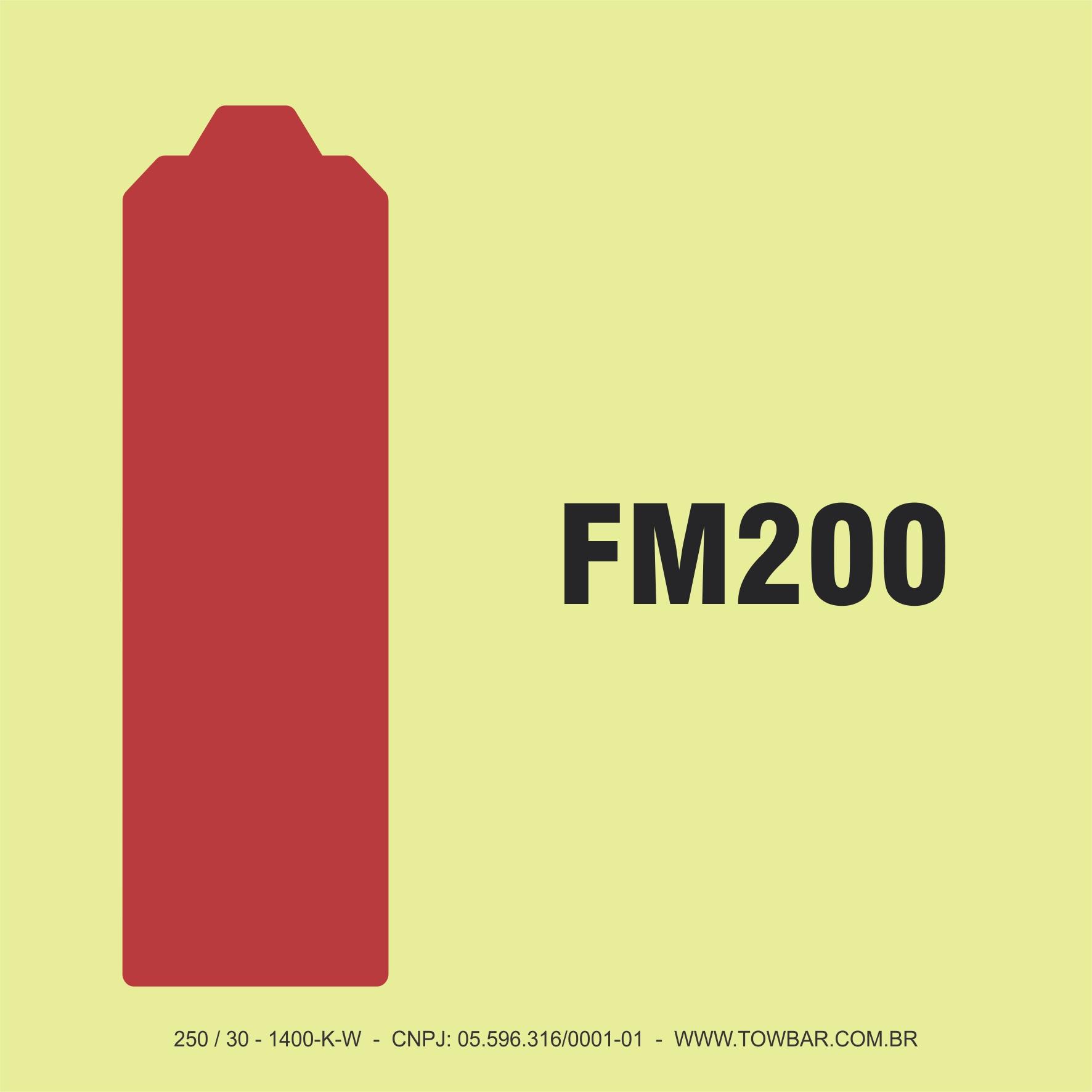 Cilindro do Sistema FM 200  - Towbar Sinalização de Segurança