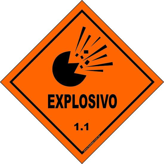 Classe 1 - Explosivo 1.1  - Towbar Sinalização de Segurança