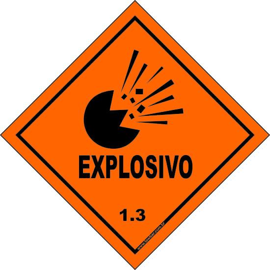 Classe 1 - Explosivo 1.3  - Towbar Sinalização de Segurança