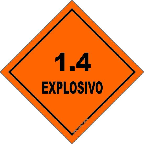 Classe 1 - Explosivo 1.4  - Towbar Sinalização de Segurança