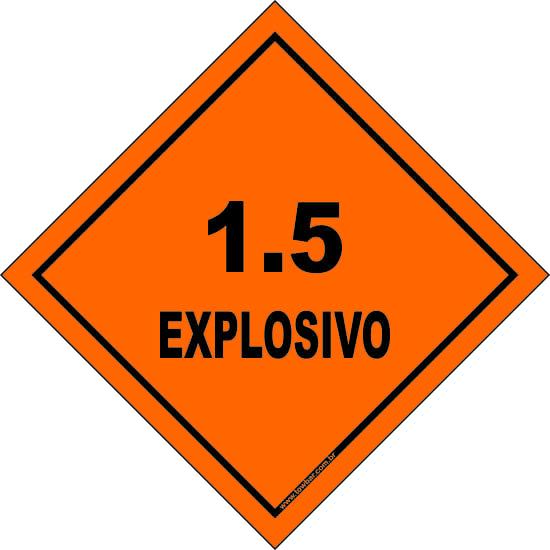 Classe 1 - Explosivo 1.5  - Towbar Sinalização de Segurança
