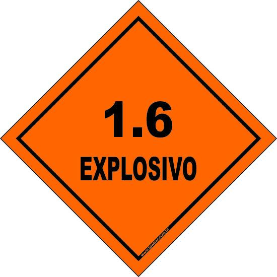 Classe 1 - Explosivo 1.6  - Towbar Sinalização de Segurança