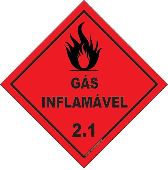 Classe 2 - Gás Inflamável 2.1  - Towbar Sinalização de Segurança