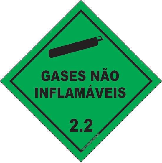 Classe 2 - Gás Não Inflamável 2.2  - Towbar Sinalização de Segurança
