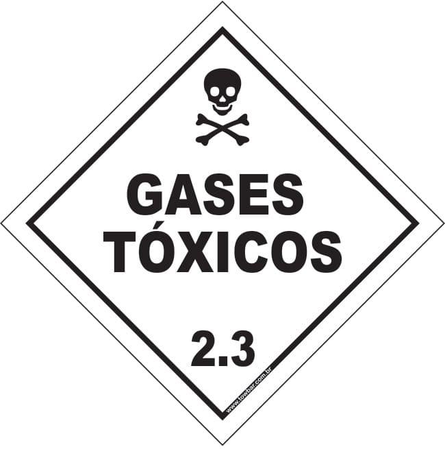 Classe 2 - Gás Tóxico 2.3  - Towbar Sinalização de Segurança