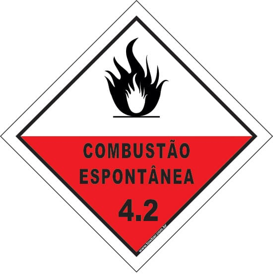 Classe 4 - Combustão Espontânea 4.2  - Towbar Sinalização de Segurança