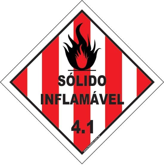 Classe 4 - Sólido Inflamável 4.1  - Towbar Sinalização de Segurança