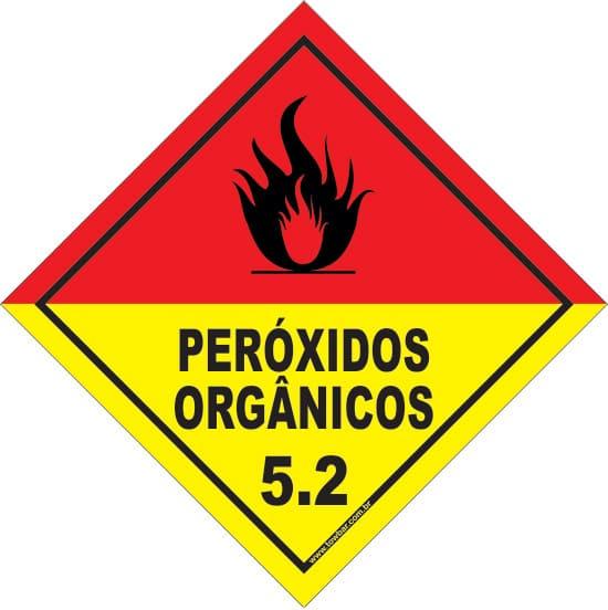 Classe 5 - Peróxido Orgânico 5.2  - Towbar Sinalização de Segurança