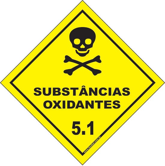 Classe 5 - Substâncias Oxidantes 5.1  - Towbar Sinalização de Segurança