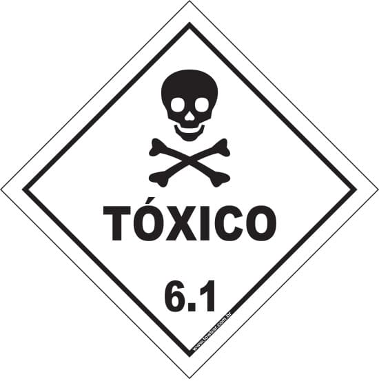 Classe 6 - Tóxico 6.1  - Towbar Sinalização de Segurança