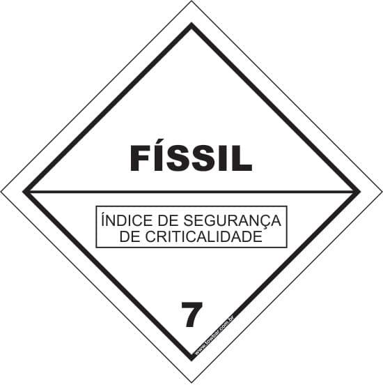Classe 7 - Físsil  - Towbar Sinalização de Segurança