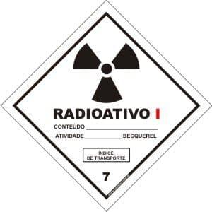 Classe 7 - Radioativo I  - Towbar Sinalização de Segurança
