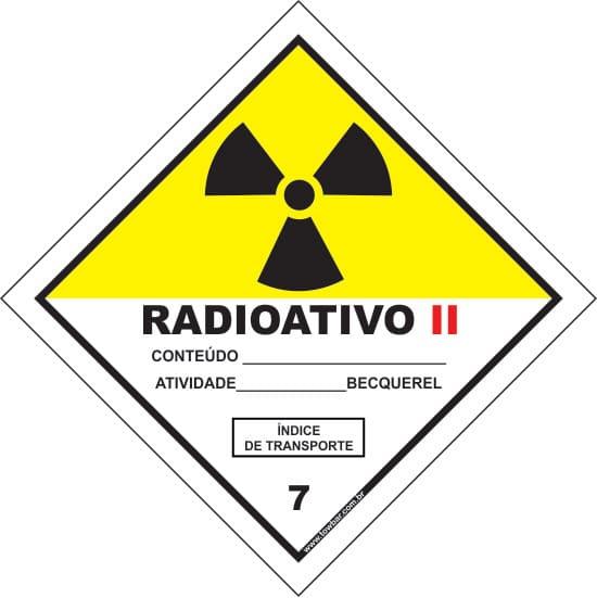 Classe 7 - Radioativo II  - Towbar Sinalização de Segurança