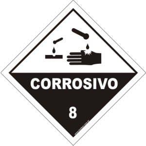 Classe 8 - Corrosivo  - Towbar Sinalização de Segurança