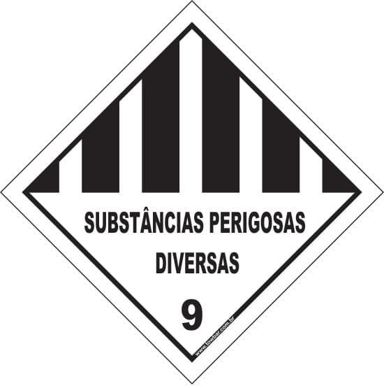 Classe 9 - Substância perigosas diversas  - Towbar Sinalização de Segurança