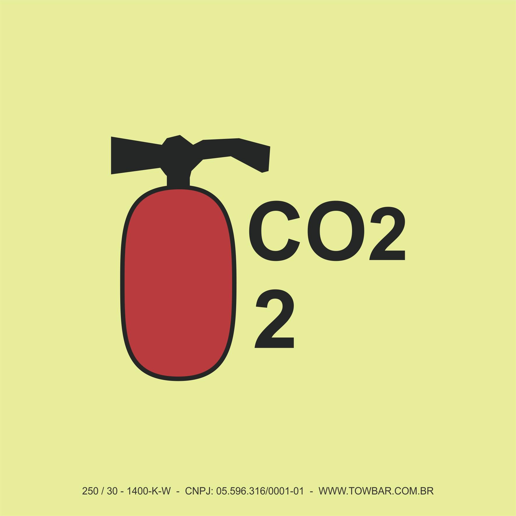 Co2 Fire Extinguisher 2   - Towbar Sinalização de Segurança