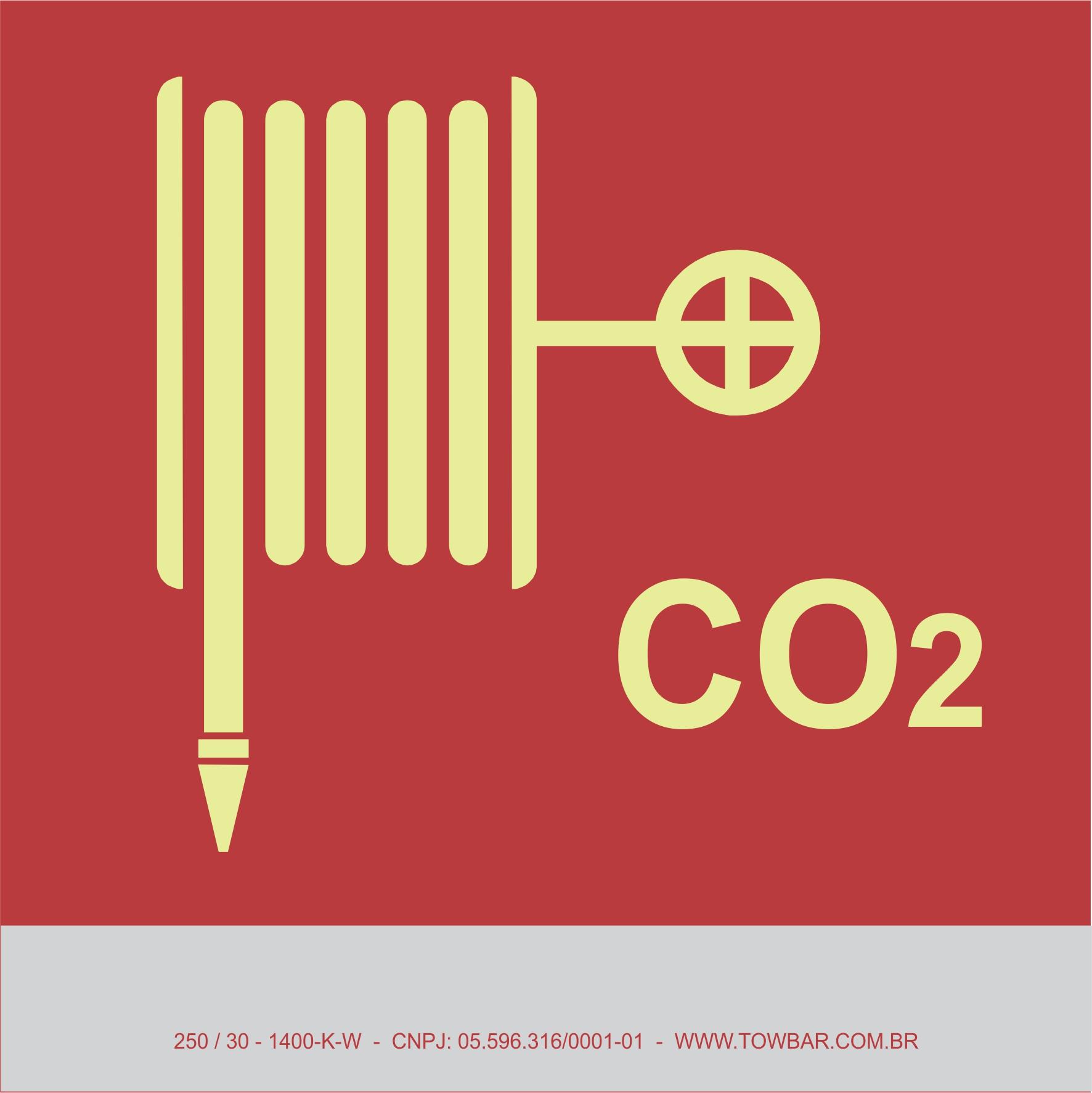 CO2 Fire Hose and Nozzle   - Towbar Sinalização de Segurança