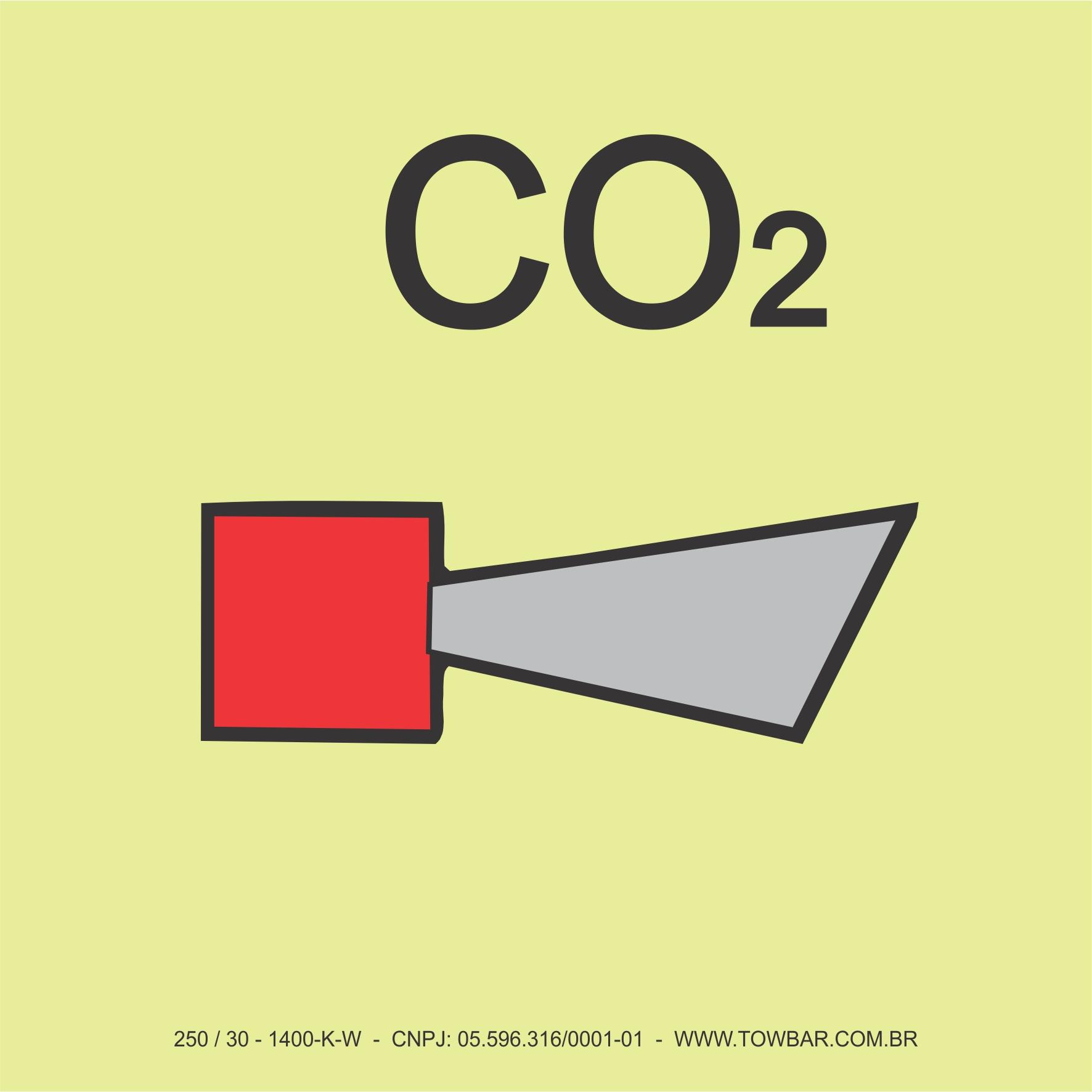 Sirene de CO² (CO2 Horn)  - Towbar Sinalização de Segurança