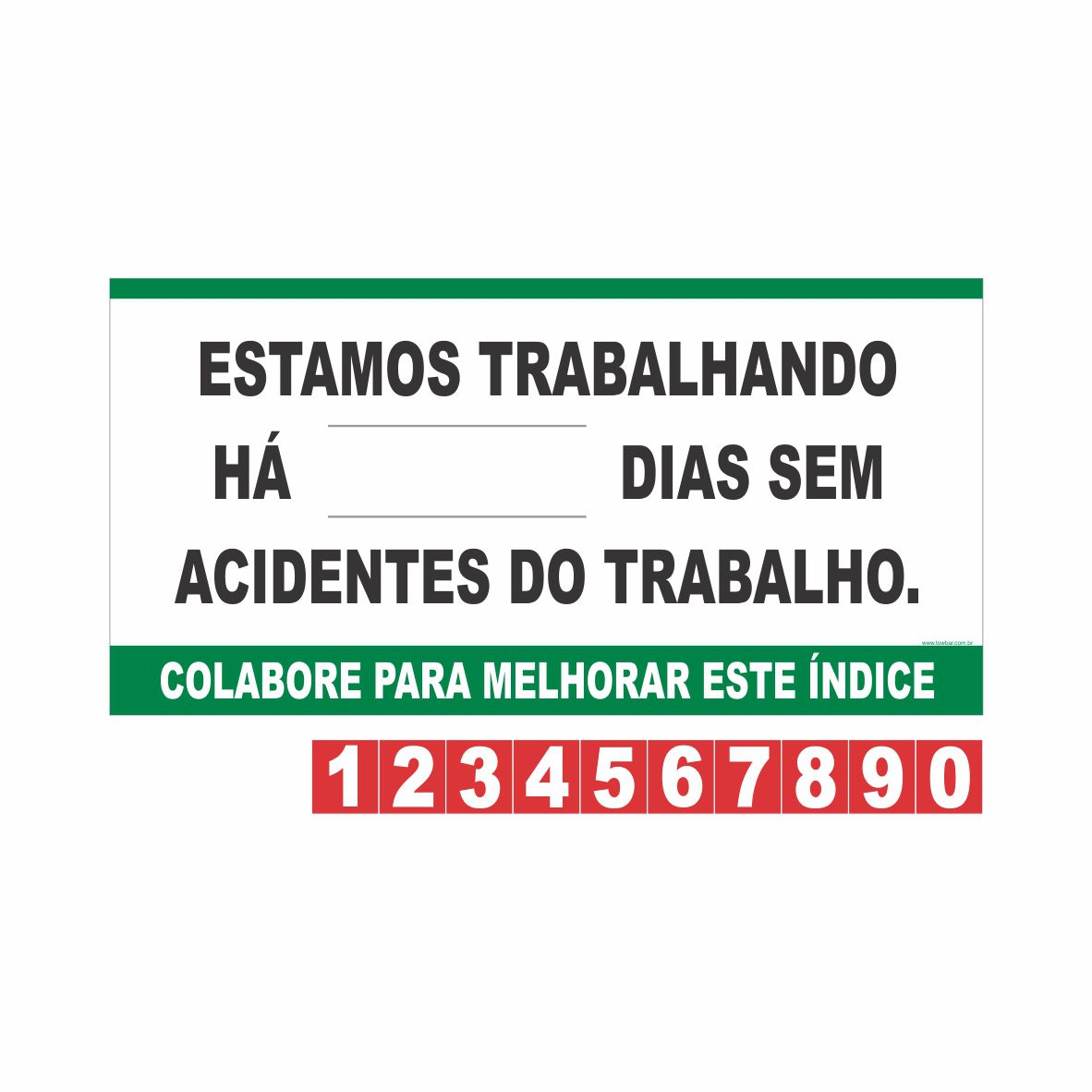 Contagem de acidente CIPA  - Towbar Sinalização de Segurança