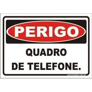Quadro de telefone  - Towbar Sinalização de Segurança
