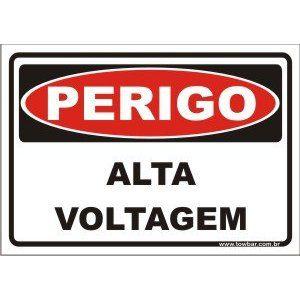 Alta voltagem  - Towbar Sinalização de Segurança