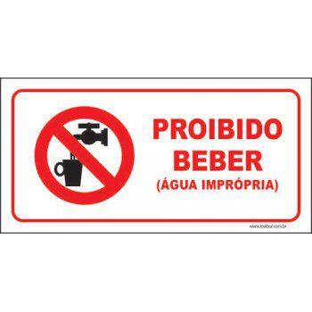 Proibido beber  - Towbar Sinalização de Segurança