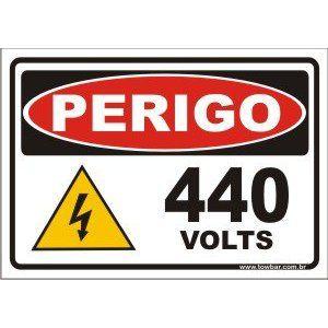 440 volts  - Towbar Sinalização de Segurança