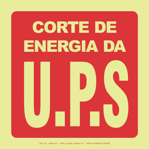 Corte de Energia da U.P.S  - Towbar Sinalização de Segurança
